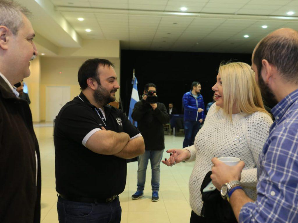 La Gobernadora agasajó a periodistas de la provincia.