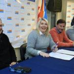 Bertone firmó el contrato para la construcción del Complejo Deportivo de la Margen Sur