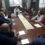 Melella se reunió con sindicatos