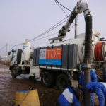 Margen sur inundada: el ministro Vázquez lo atribuyó a una superposición de trabajos