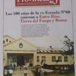 Los 100 años de la ex Escuela N°60 unieron a Entre Ríos, Tierra del Fuego y Roma