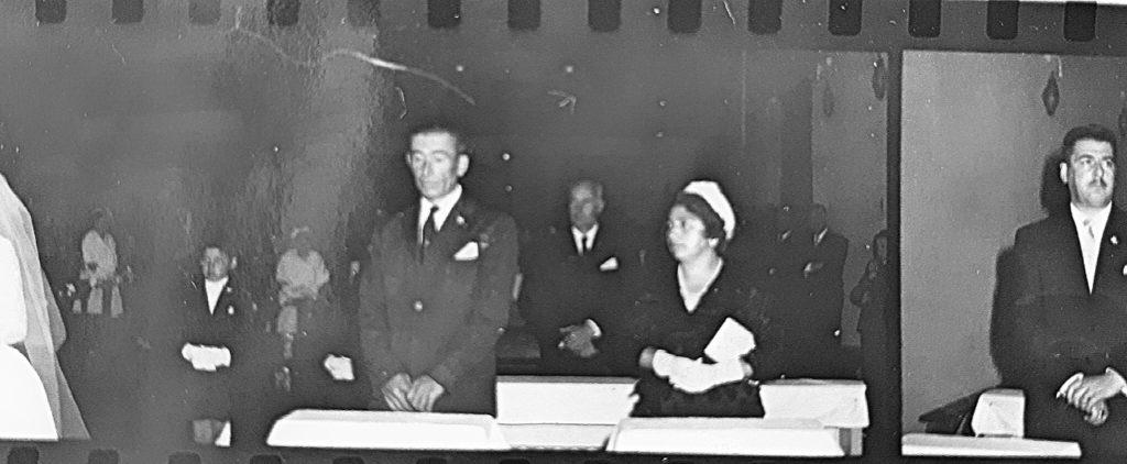 Fotos del casamiento de la hermana mayor de Zulema y Marita, el 24 de marzo de 1962.