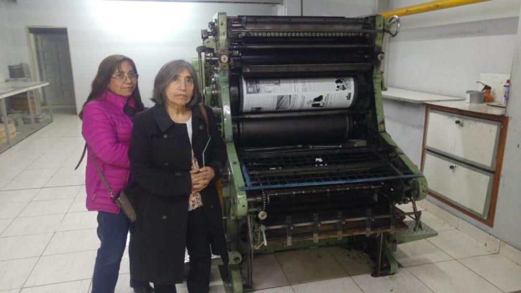 Las hermanas Lodeiro en la imprenta de Provincia 23.