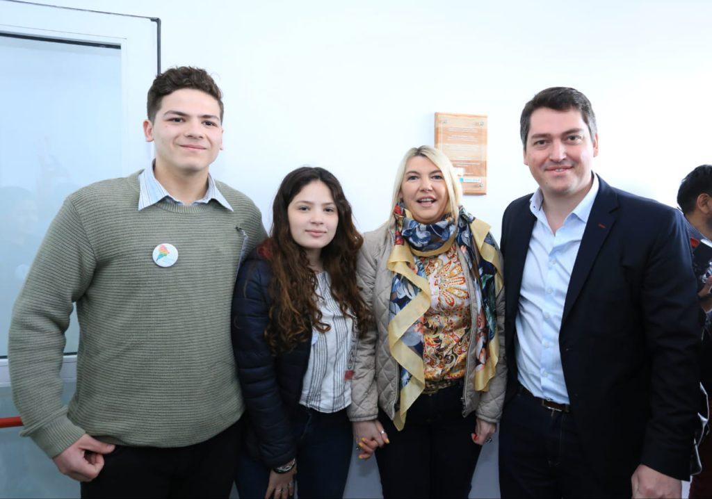 Bertone y Martín Pérez inauguraron el DIAT 'Espacio Joven'.