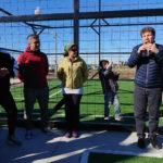 El intendente Gustavo Melella encabezó la inauguración del playón deportivo