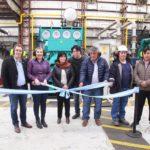 Bertone participó de la puesta en funcionamiento del nuevo equipo generador de energía