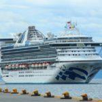 """El imponente crucero """"Star Princess"""" amarró en el puerto de Ushuaia"""