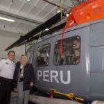 Bertone visitó el buque peruano BAP Carrasco