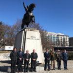 Ferreyra rindió homenaje a San Martín en Washington