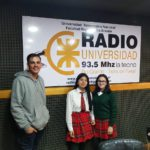 El Ing. Francisco Álvarez, estudiantes del CIERG y el artista Marcos Aldavez, visitaron Radio Universidad