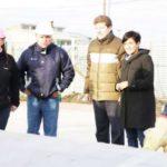 Melella y Cubino recorrieron la obra de la plaza integradora 'ARA Guaraní'