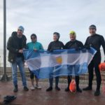 De Comodoro Rivadavia a Río Grande: Gabriela Córdoba junto a nadadores locales bracearon frente a la Costanera