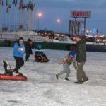 Se inauguró la pista de patinaje en el Cono de Sombra