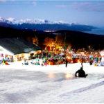 70 esquiadores bajaron desde el glaciar Martial iluminando la ciudad de Ushuaia