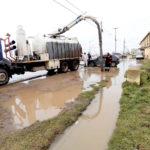 Por las intensas lluvias el Municipio realiza fuertes operativos