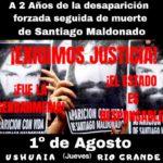 A dos años de la muerte de Santiago Maldonado, habrá actividades en la provincia esta tarde