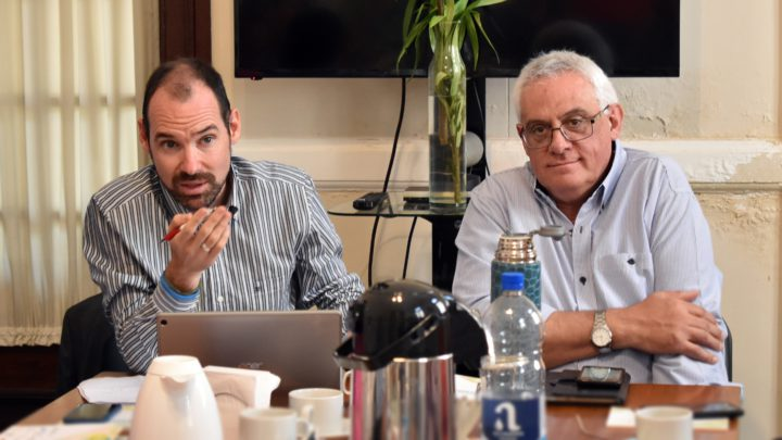 El Presidente de la RIU (Red Internacional Universitaria), Daniel Martin Pena, junto al vicepresidente de la RIU, Mario Giorgi.