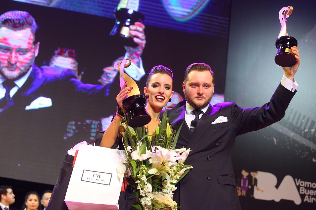 La fueguina y su pareja de baile, el ruso Maksim Gerasimov, fueron los ganadores en la categoría Pista del Festival y Mundial de Tango de Buenos Aires.