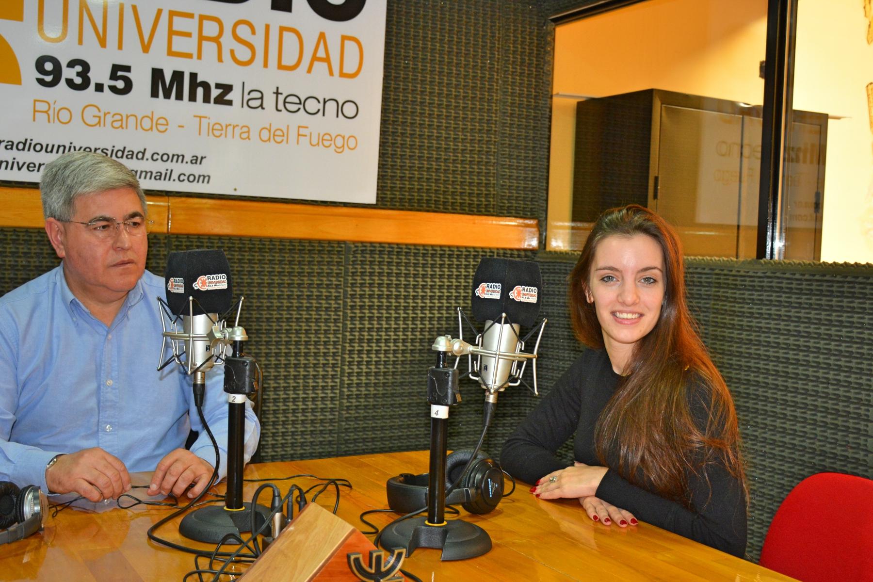 La Campeona Mundial de Tango Agustina Piaggio visitó los estudios de Radio Universidad