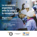 Miguel Pesce brindará este lunes una charla en la UTN