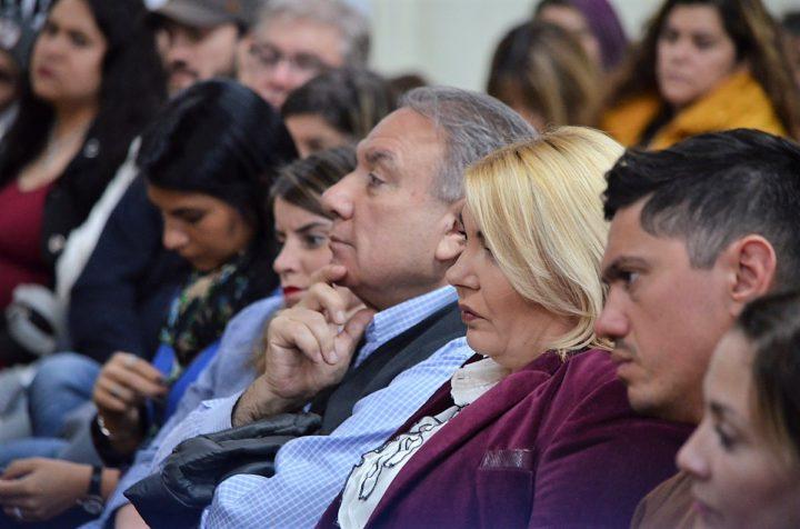 El Decano de la Facultad Regional Tierra del Fuego, Mario Ferreyra, y la Gobernadora Rosana Bertone también dijeron presente en el evento.