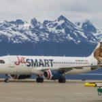 Ushuaia recibió el primer vuelo de JetSmart