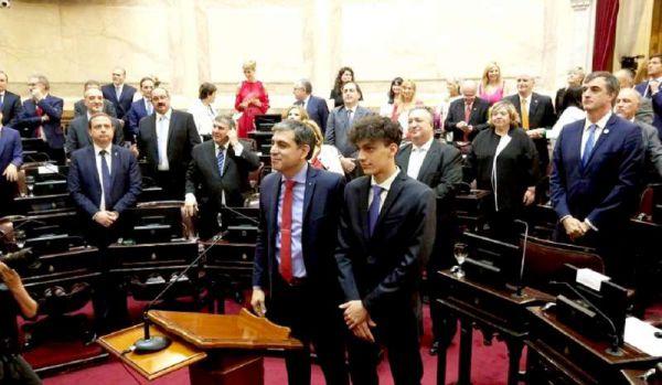"""Matías Rodríguez dijo que """"hoy tenemos la responsabilidad de representar al pueblo fueguino en el Senado de la Nación""""."""