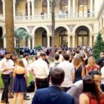 Macri saludó al personal de Casa Rosada
