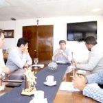 Melella recibió a los intendentes Pérez, Vuoto y Harrington para coordinar trabajo conjunto sobre Coronavirus