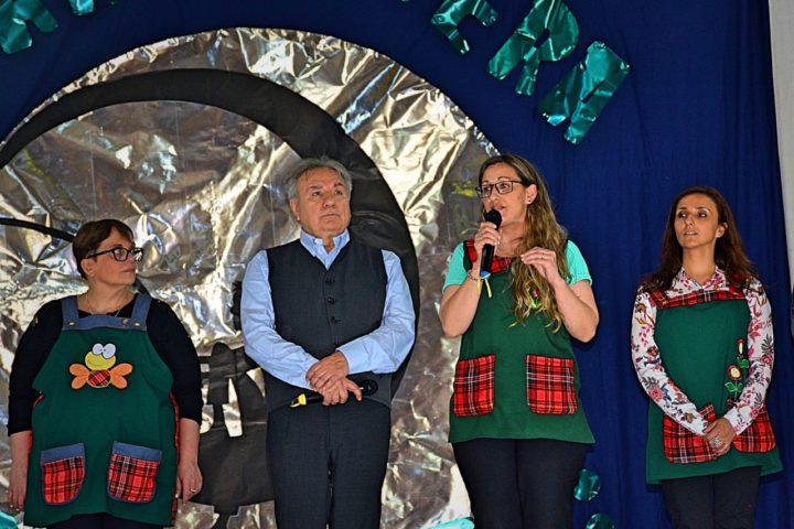 De izquierda a derecha: Alejandra de la Guardia; Ing. Mario Ferreyra; Cristina González y Silvina Chebel.