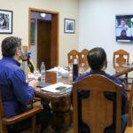 El intendente Martín Pérez mantuvo una videoconferencia con concejales