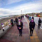 El Municipio intervino el paseo costero para concientizar sobre violencia de género