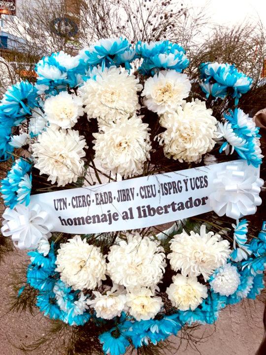 La ofrenda en el monumento como en nuestras instalaciones educativas en Río Grande y en Ushuaia, como el CIERG, el CIEU, la EADEB, el Jardín 'Rosarito Vera' y las instituciones universitarias que dependen de la FUNDATEC, como la propia UTN, el ISPRG y la UCES.