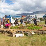 Trabajos de embellecimiento en la Rotonda del Indio