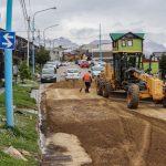 Continúan los trabajos de repavimentación en Pontón Río Negro, entre Magallanes y Alem