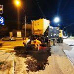 Trabajos nocturnos de reparación vial en Ushuaia