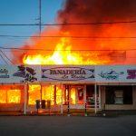 Panadería La Unión consumida por las llamas