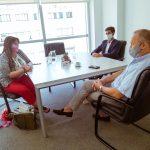 Castillo se reunió con autoridades para verificar cuestiones operativas de las 7 obras acordadas