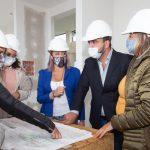Vuoto recorrió el tramo final de la obra de la Casa de la Mujer de Ushuaia