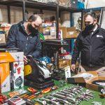 Ushuaia Integral equipó con herramientas de mano y neumáticas al taller del transporte público