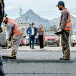 Vuoto recorrió las obras de pavimentación de la calle río Claro en el Pipo
