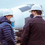 Pereyra supervisó el avance de obra de la nueva planta de tratamiento de efluentes cloacales