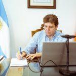 El gobernador Melella participó de la reunión con el presidente Alberto Fernández