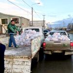Camioneros asistió con alimentos y agua a los transportistas varados