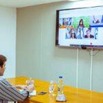 Melella mantuvo un encuentro virtual con los gobernadores de las provincias patagónicas