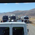 Hasta anoche más de 600 camiones se encontraban varados en Punta Delgada