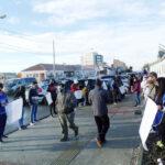 Somos Barrios de Pie realizó un abrazo solidario al Hospital Regional Río Grande