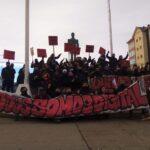 Manifestación de solidaridad con Digital y Tecnosur