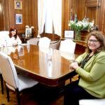 Cristina Fernández recibió a Carolina Yutrovic